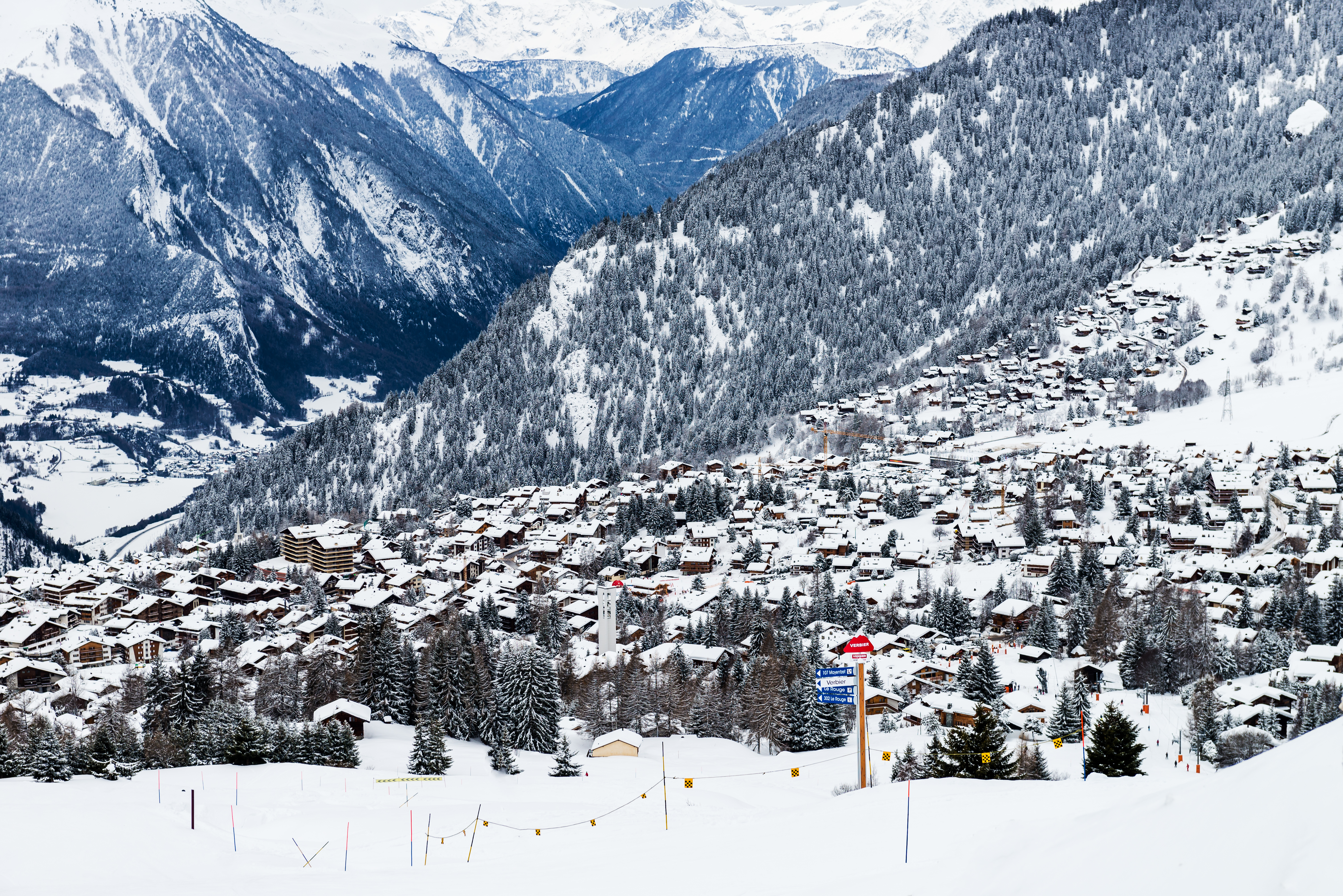 Verbier in Winter